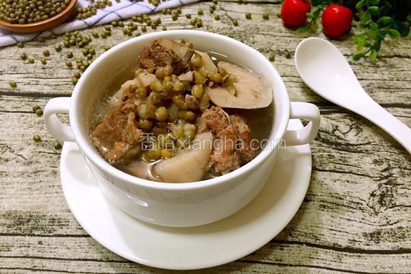莲藕绿豆排骨汤