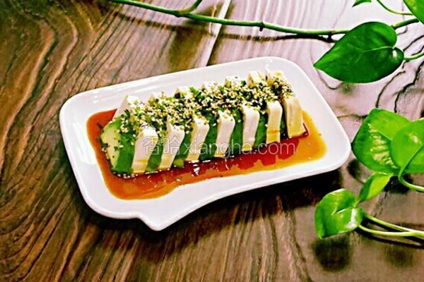 日式牛油果拌豆腐#年夜饭