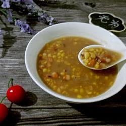 玉米花豆粥