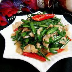 蛤喇肉炒韭菜