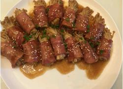 五花肉金针菇卷