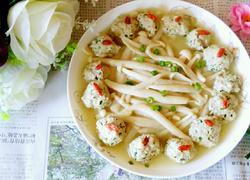 肉丸烩海鲜菇