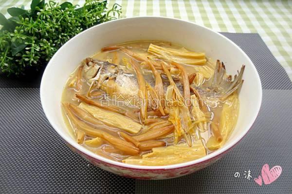 腐竹金针菜鱼汤