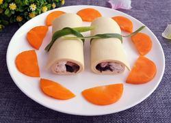 豆腐皮蟹肉卷