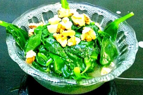 蒜香桃仁木耳菜