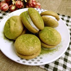 绿茶马卡龙