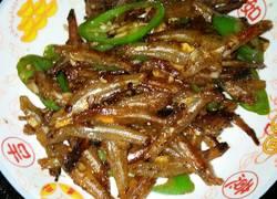 青椒炒小鱼干