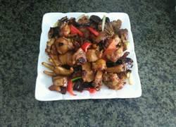 冬菇炒扇鸡