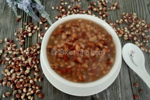 高粱米花豆粥