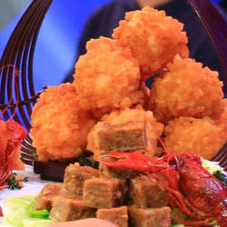 CCTV7食尚大转盘《灌汤龙虾球》