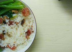 果肉腊味焖饭