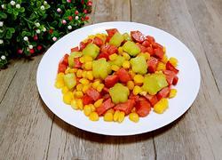 玉米粒炒烤肠