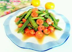 玉米香肠炒双豆
