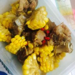 蒜香排骨煎玉米