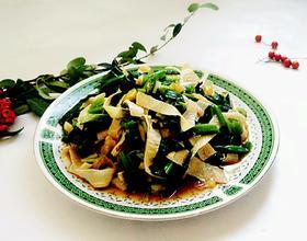 菠菜拌油豆皮[图]