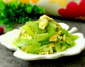 芹菜炒鸡蛋[图]