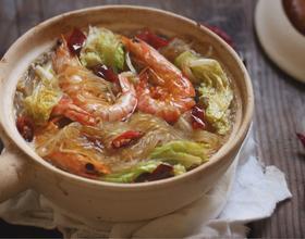 鲜虾白菜粉丝煲[图]