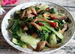 蘑菇炒青菜
