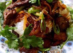 驴肉盖米饭(陕北名吃)