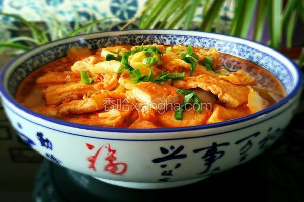 肉末大白菜炖豆腐