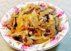 萝卜丝炒牛肉丝