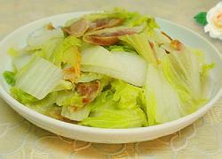 港式腊肠炒大白菜