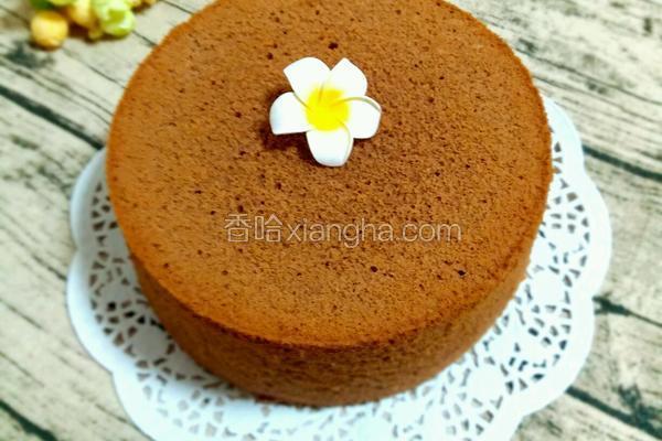 8寸巧克力戚风蛋糕(不开裂版)