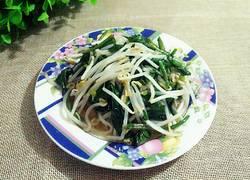 菠菜炒黄豆芽