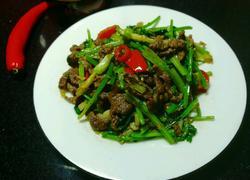 香菜炒牛肉丝