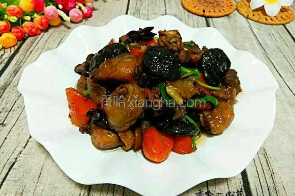 胡萝卜香菇焖鸡腿