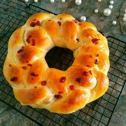 玉米油花环面包