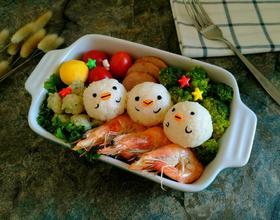 小鸡饭团便当盒[图]