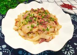 咸肉片炒白菜