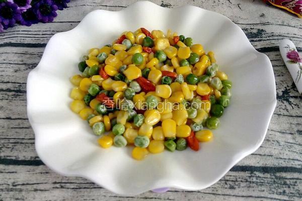 玉米粒炒豌豆