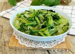 韭菜炒莴苣