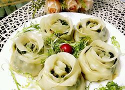 韭菜虾仁玫瑰花煎饺#年夜饭