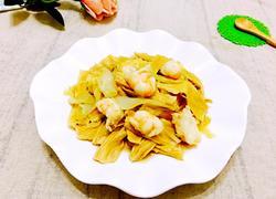 鲜虾腐竹焖白菜