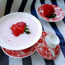草莓奶昔#甜品