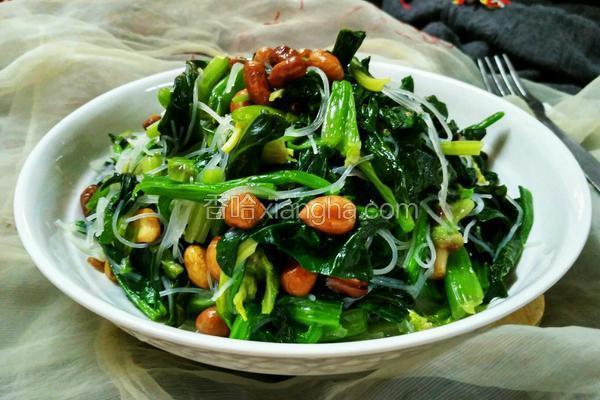 油香炝菠菜