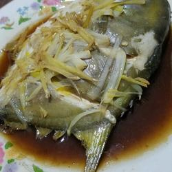 清蒸红酒扁平鱼
