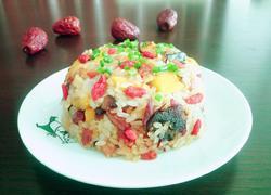 腊肉红薯糯米饭
