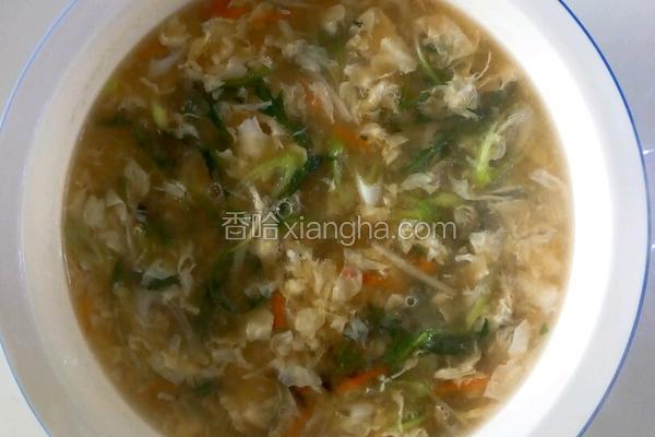 野菜面糊鸡蛋汤