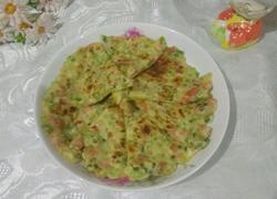 蒜苔火腿煎饼