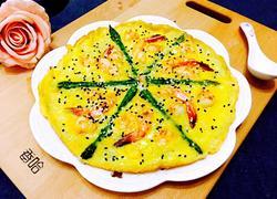 芦笋虾仁早餐蛋饼