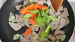 尖椒炒猪肝的做法图解9