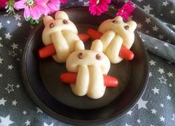 小兔香肠馒头(一次发酵法)