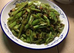 青椒炒通菜梗