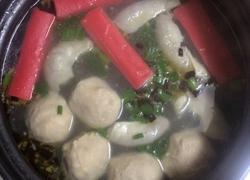 蟹柳夹心丸猪肠汤