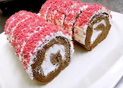 巧克力草莓卷