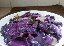 洋葱爆炒紫甘蓝
